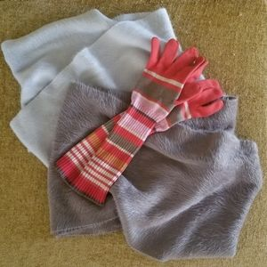 Bundle of 2 Plush Winter Infinity Scarves, Sonoma